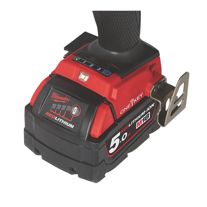 Milwaukee M18 ONEPD2-502X FUEL 18V 5.0Ah Brushless Cordless ONE-KEY Combi Drill - Image 3