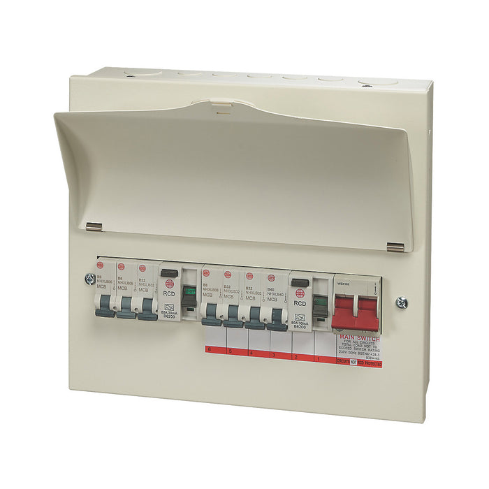 Wylex Consumer Unit 13-Module 7-Way Populated High Integrity Dual RCD - Image 1