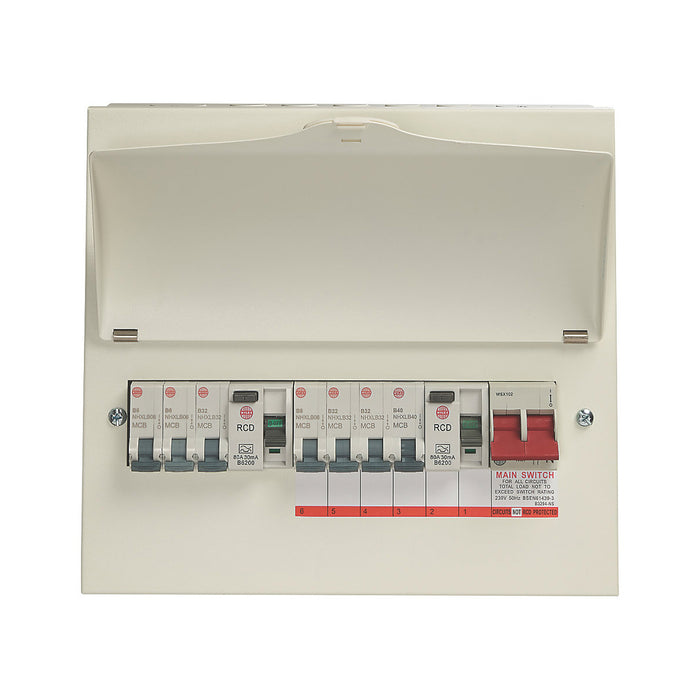 Wylex Consumer Unit 13-Module 7-Way Populated High Integrity Dual RCD - Image 2