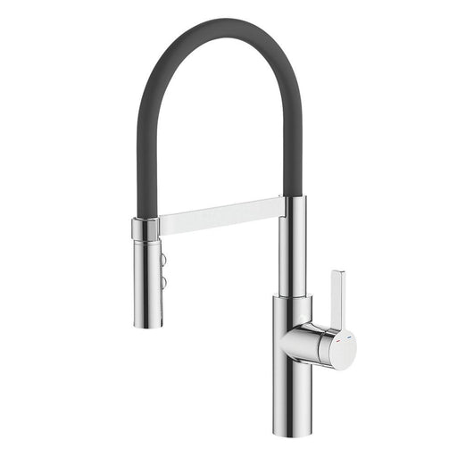 Cooke and Lewis Pull-Out Spray Mono Mixer Kitchen Tap Black / Chrome - Image 1