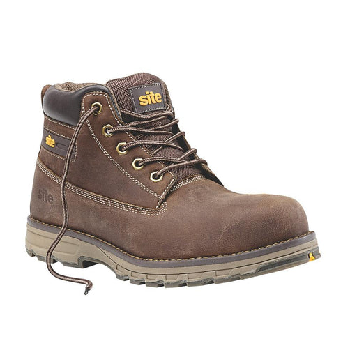 Site Aplite Safety Boots Brown Size 7 - Image 1