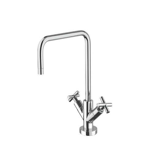 Franke Calliano Dual-Lever Mono Mixer Kitchen Tap Chrome - Image 1