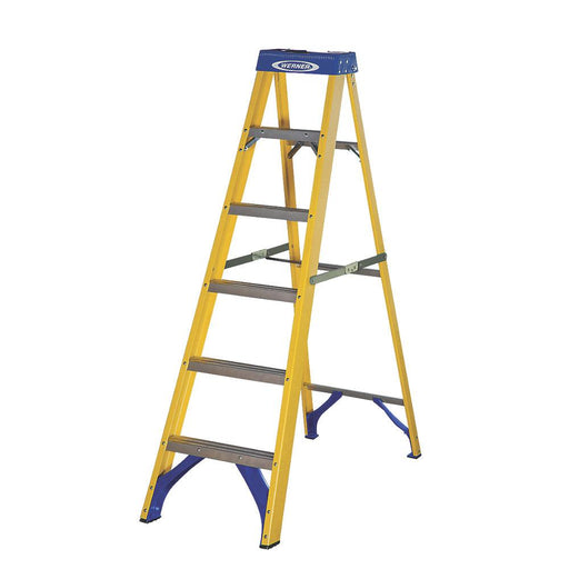 Werner 71696 Swingback Ladder Fibreglass 6-Tread 1.67m - Image 1