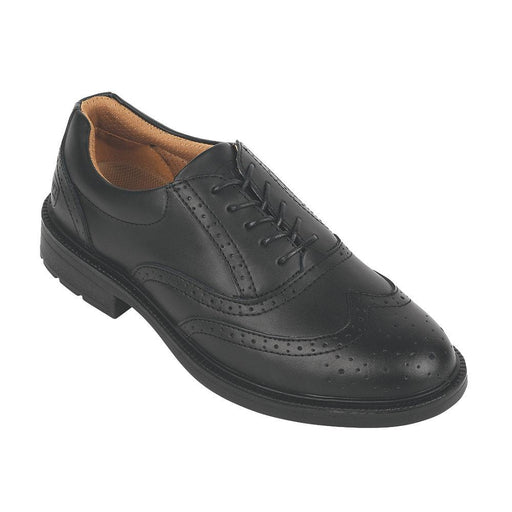City Knights Brogue Executive Safety Shoes Black Size 10 - Image 1