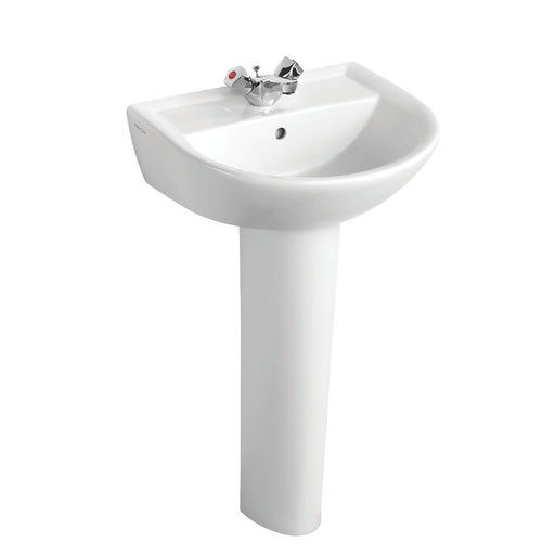 Armitage Shanks Sandringham 21 Full Pedestal Basin 1 Tap Hole 550Mm (7186J) - Image 1