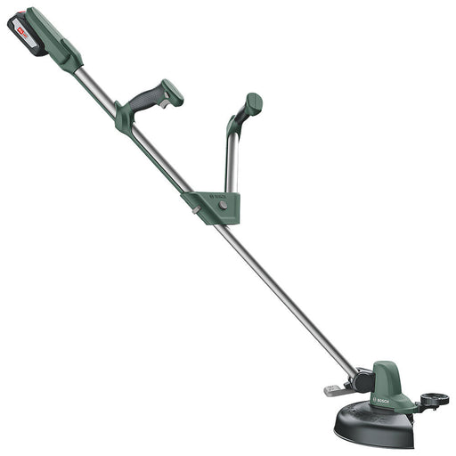 Bosch Universal Cordless Grasscut Trimmer 26cm 18V 2.0Ah Telescopic Handle 140cm - Image 1