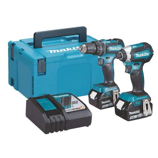 Makita DLX2283TJ 18V 5.0AH Cordless Combi Drill & Impact Driver Twin Pack - Image 1