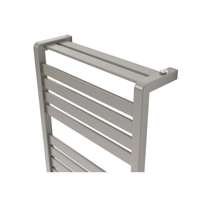 Goodhome Loreto Towel Warmer Vertical Grey Silver 1300 x 500mm - Image 3