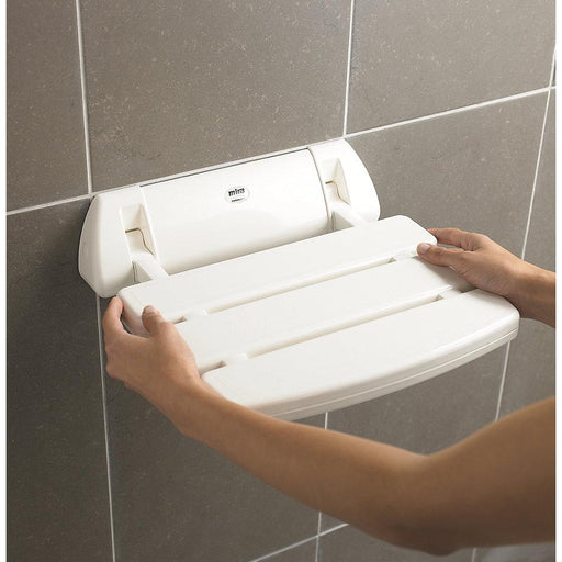 Mira Wall Mounted White Shower Seat Max. Load 95.5kg - Image 1