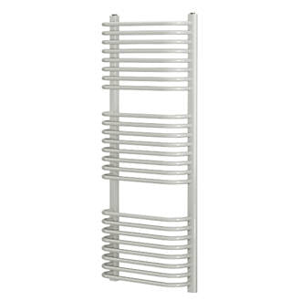 Blyss Towel Radiator 1200 X 500mm Curved White CAP22GC041 Curved D-Bar - Image 1