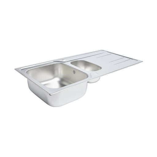 Kitchen Reversible Sink & Drainer Stainless Steel 1.5 160mm Bowl 1000 x 500mm - Image 1