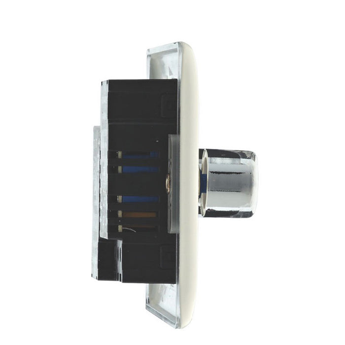 British General 2-Gang 2-Way Push Dimmer Switch 400W Cream (77928) - Image 2