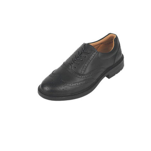 City Knights Brogue Safety Shoes Black Size 7 (78366) - Image 1