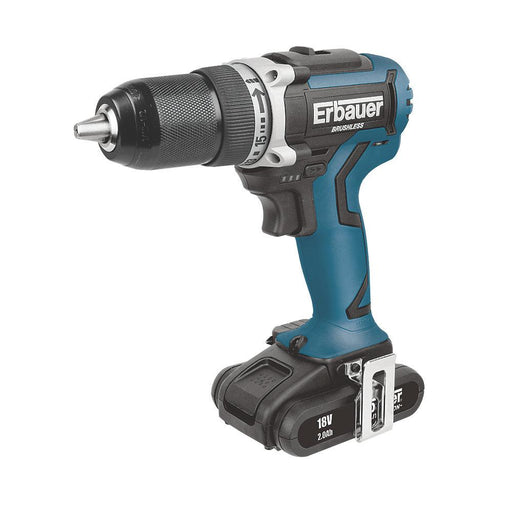 Erbauer ERI717DDR 18V 2 x 2.0Ah Li-Ion  Brushless Cordless Drill Driver - Image 1