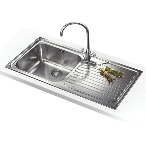 Franke Inset Kitchen Sink 18 / 10 Stainless Steel 1 Bowl 1000 x 500mm - Right-Hand Drainer - Image 1