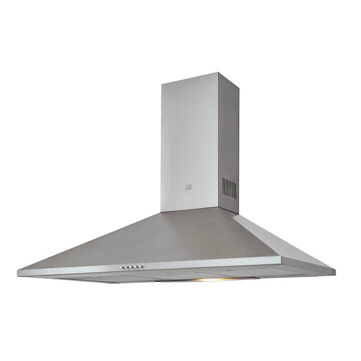 Cooke & Lewis Chimney Hood 90cm CLCHS90 Silver Stainless Steel 3 Speeds - Image 1