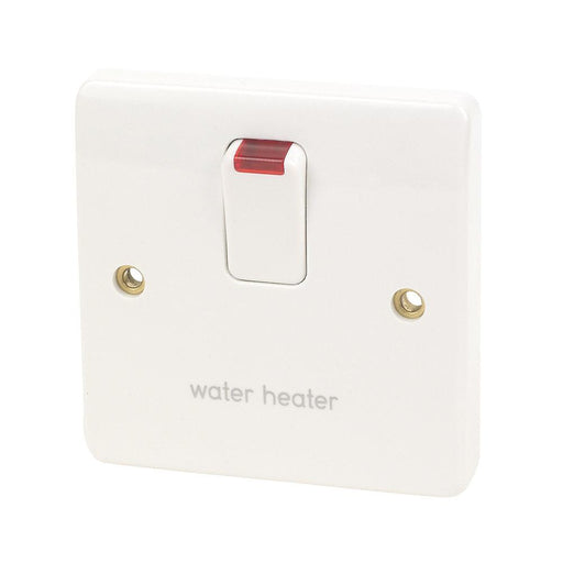 MK 20A DP Water Heater Switch with Neon White - Image 1