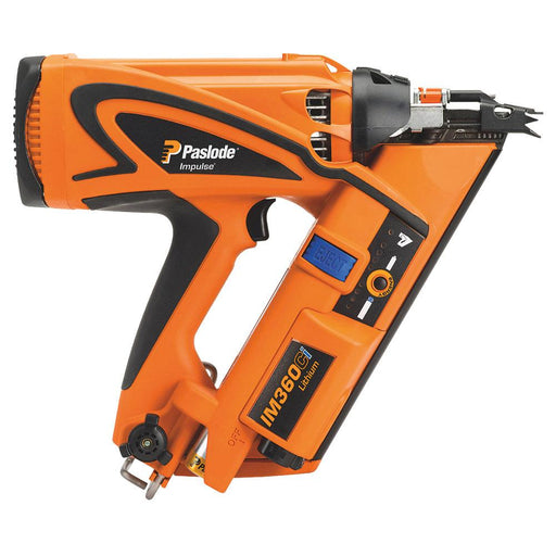 Paslode Nail Gun IM360Ci 90mm 7.4V 2.1Ah Li-Ion First Fix Cordless Gas Framing - Image 1