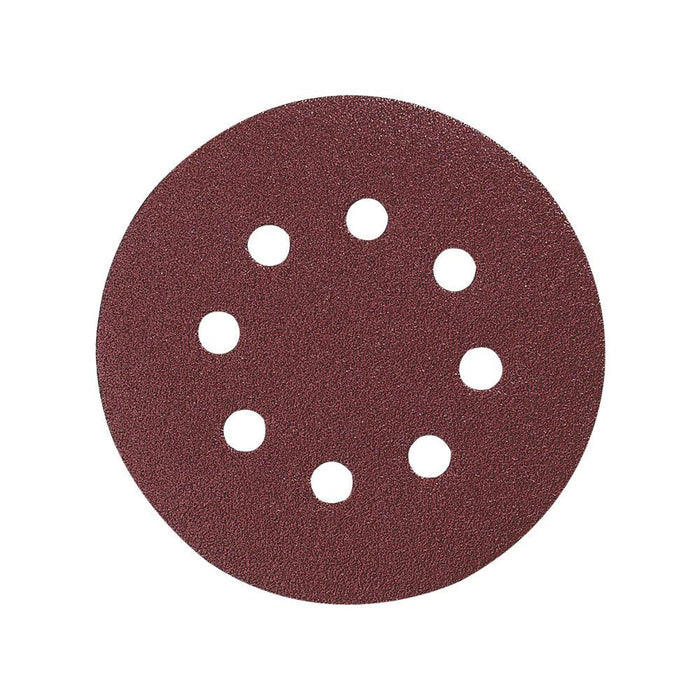 Makita Sanding Discs Punched 125mm 60 Grit 10 Pack - Image 1