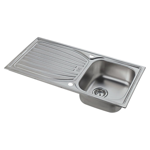 Astracast Kitchen Sink Alto 1 bowl Stainless Steel Reversible Drainer 980x510mm - Image 1