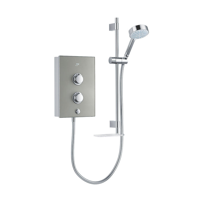 Mira Decor Manual Electric Shower 9.5kW Warm Silver - Image 1
