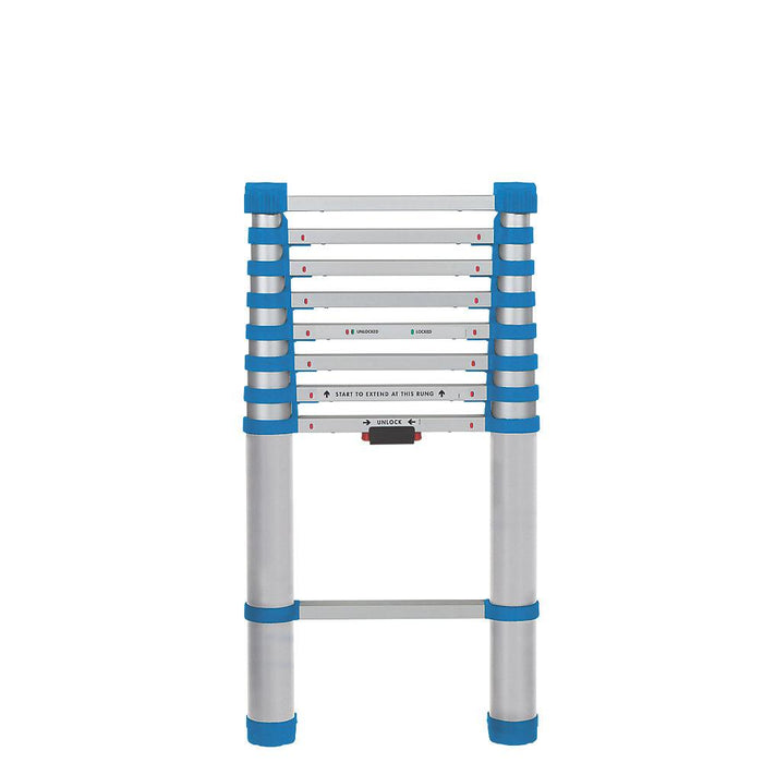 Mac Allister Aluminium Telescopic Extension Ladder 8 Tread 263cm - Image 2