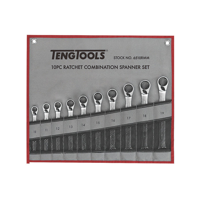 Teng 10 piece Ratchet Spanner Set - Image 1