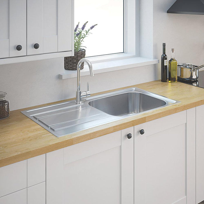 Kitchen 1 Bowl Reversible Sink Stainless Steel 1000 x 500mm - Image 4