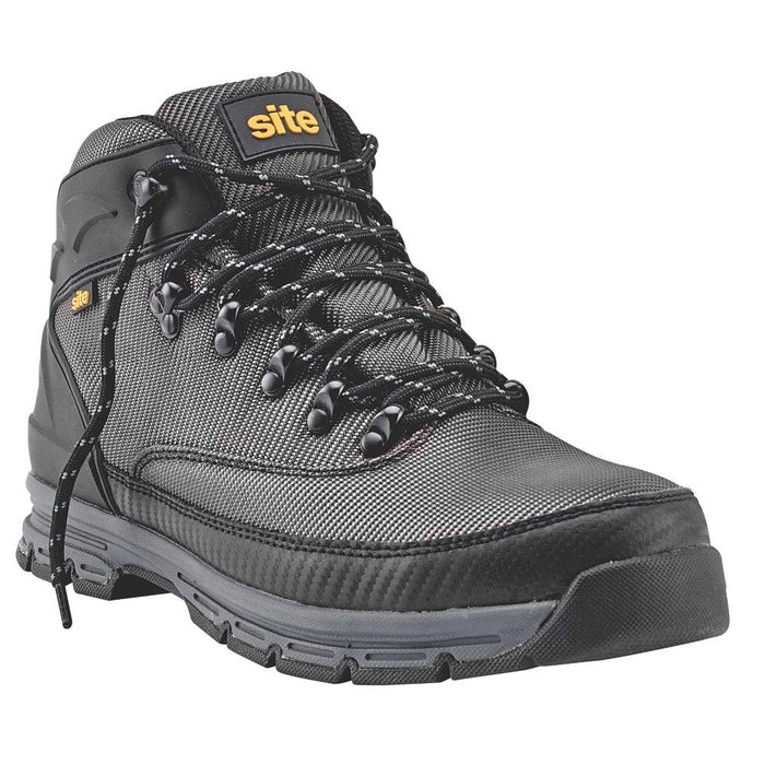 Site Asteroid Woven Mesh Safety Boots Charcoal Grey Size 10 - Image 1