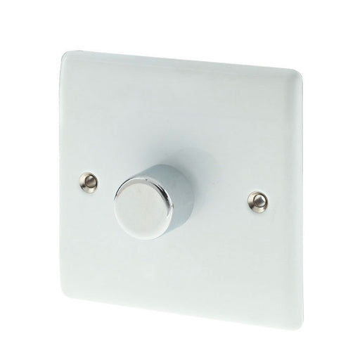 British General 1-Gang 2-Way Push Dimmer Switch 400W Polished White (88654) - Image 1