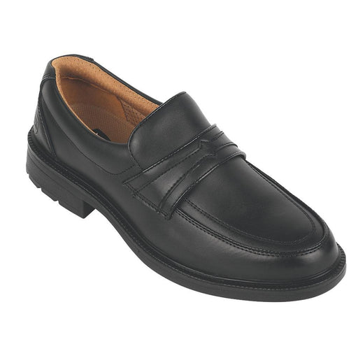 City Knights Slip-On Executive Safety Shoes Black Size 8 - Image 1