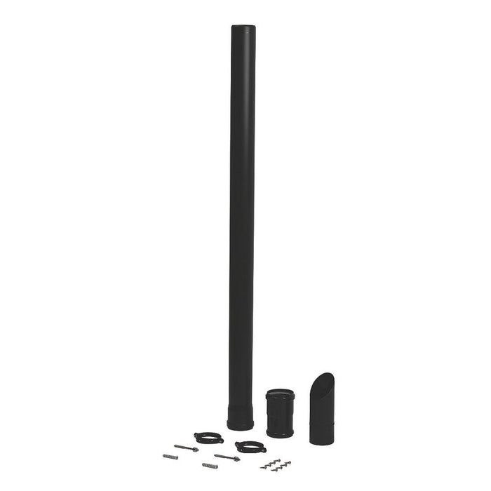 Baxi Under Balcony Eaves Flue Kit- Black - Image 1