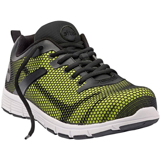Site Mens Safety Trainers Flex Neon Black Yellow Steel Toe Cap Size UK 7 - Image 1