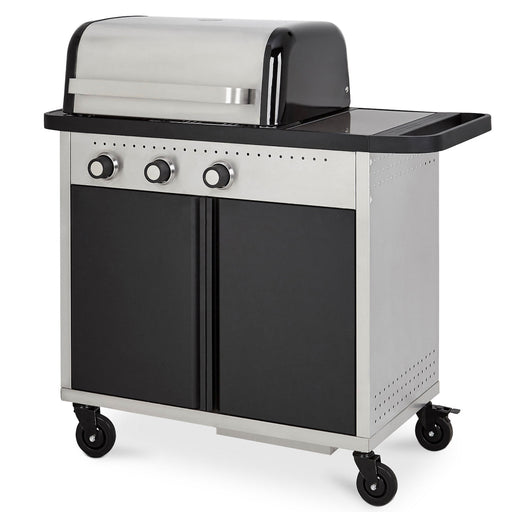 Blooma Rockwell 310 3 Burner Black Gas Garden Barbecue - Image 1