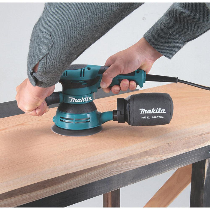 Makita Electric Random Orbit Sander 125mm BO5041 110V 300W with Dust Bag - Image 5