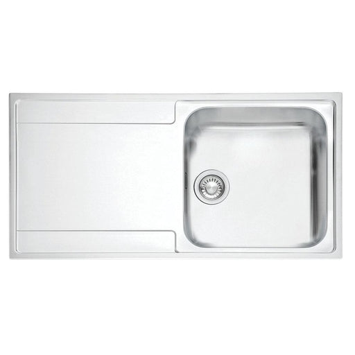 Franke Inset Kitchen Sink 1.2mm Stainless Steel 1 Bowl 1000 x 510mm - Left-Hand Drainer - Image 1