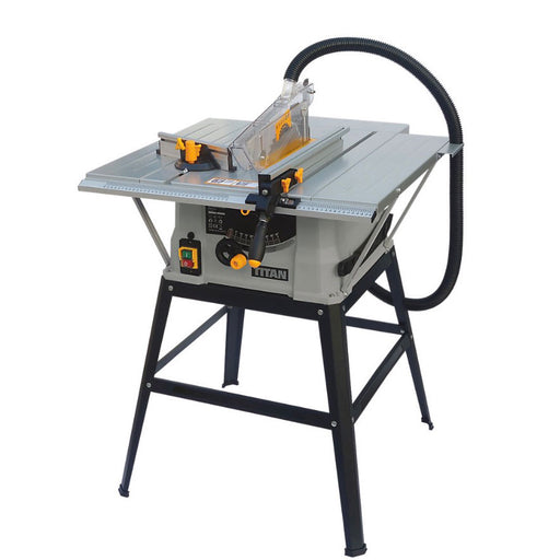 "Titan TTB674TAS 254mm/10"" Electric Table Saw 230-240V 1500W - Plug Included - Image 1"