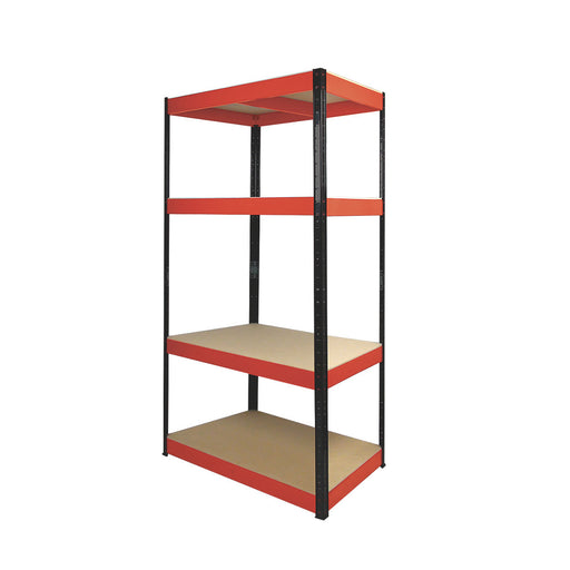 RB Boss Freestanding Shelving 4-Tier Powder-Coated Boltless 900 x 400 x 1800mm - Image 1