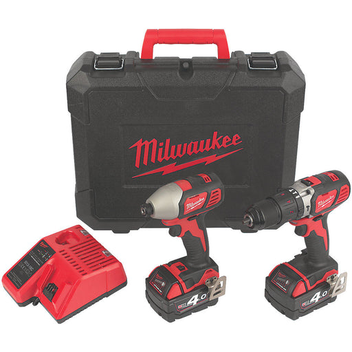 Milwaukee M18BPP2AB-402C 2x 4.0Ah Cordless Twin Pack Drill & Driver - Image 1