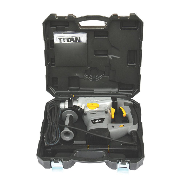 Titan TTB278SDS Electric Brushed SDS Plus Drill & 9 Piece Accessory Kit 230-240V - Image 5