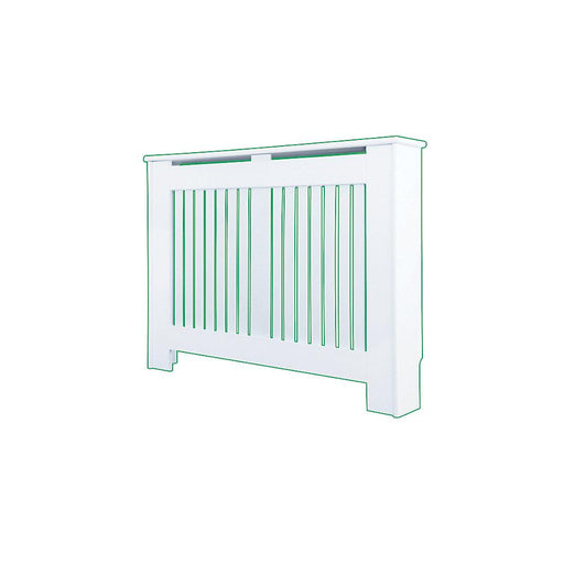 Contemporary Kensington White Radiator Cabinet Small 1020 x 180 x 800mm (9775P) - Image 1