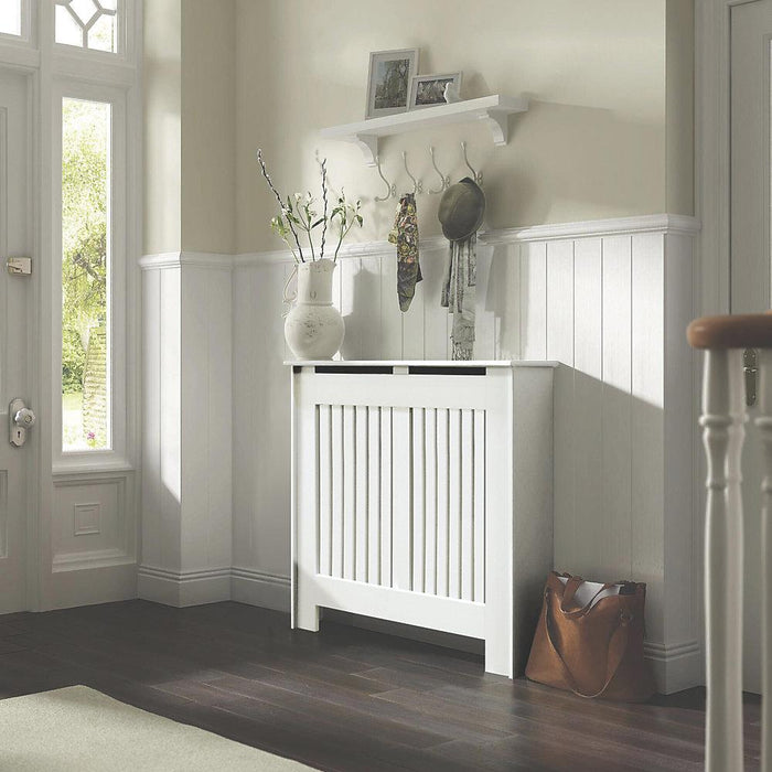 Contemporary Kensington White Radiator Cabinet Small 1020 x 180 x 800mm (9775P) - Image 2