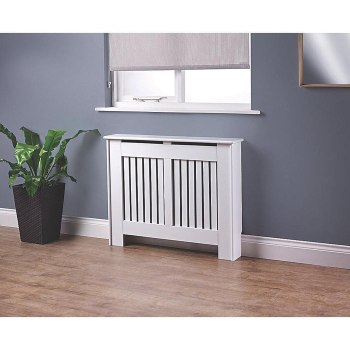 Contemporary Kensington White Radiator Cabinet Small 1020 x 180 x 800mm (9775P) - Image 3