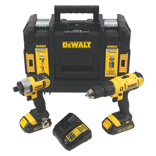 DeWalt DCZ298S2T-GB 18V 1.5Ah Li-Ion   Cordless Combi Drill & Impact Driver Twin Pack - Image 1