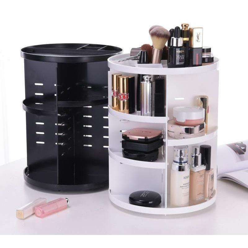 360 Degree Rotating Makeup Organizer   Makeup Cosmetic Storage