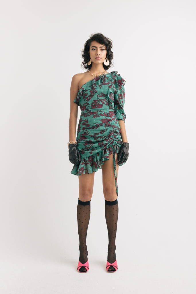 Serpentine mini dress