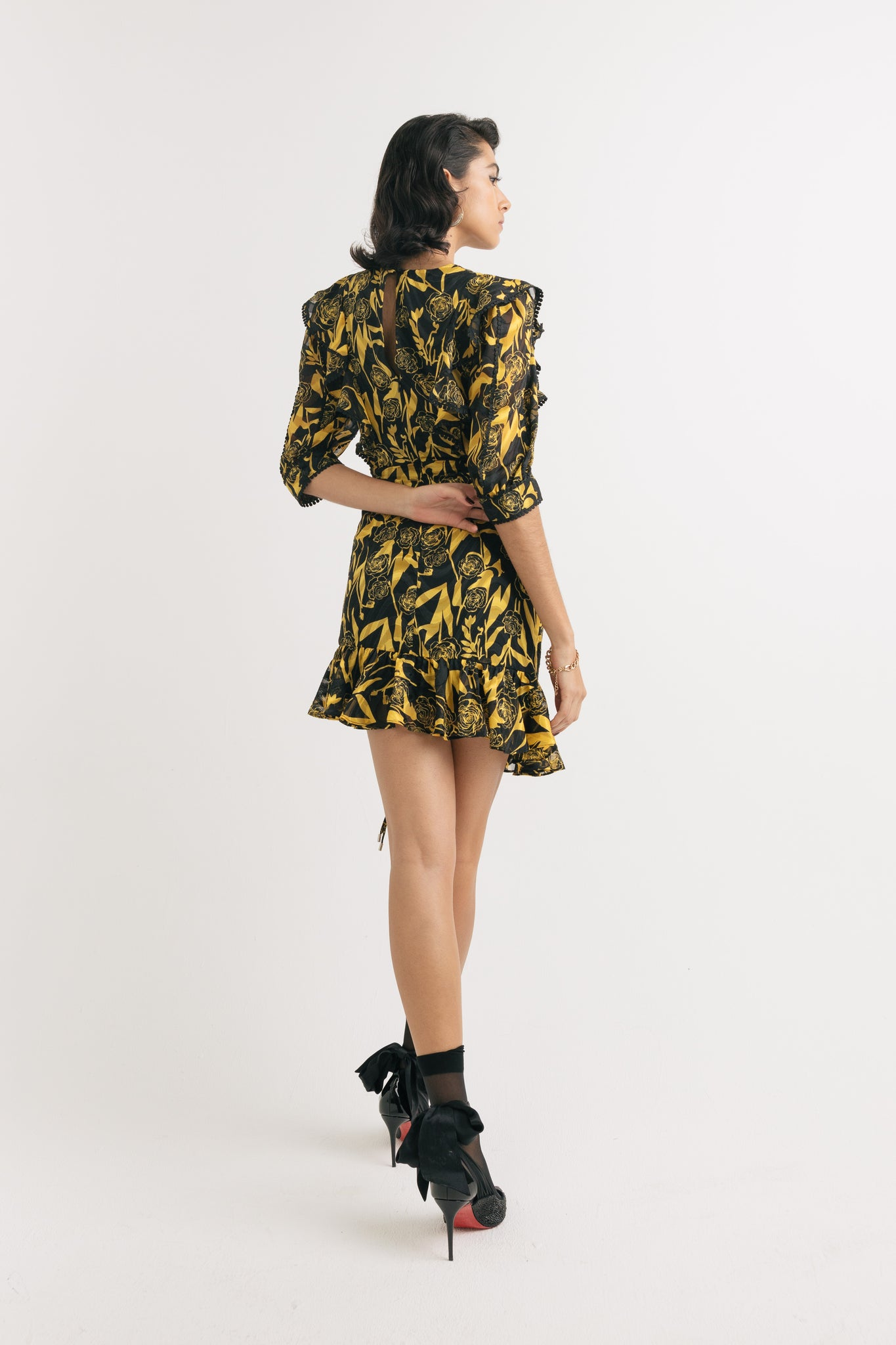 Citrine mini dress