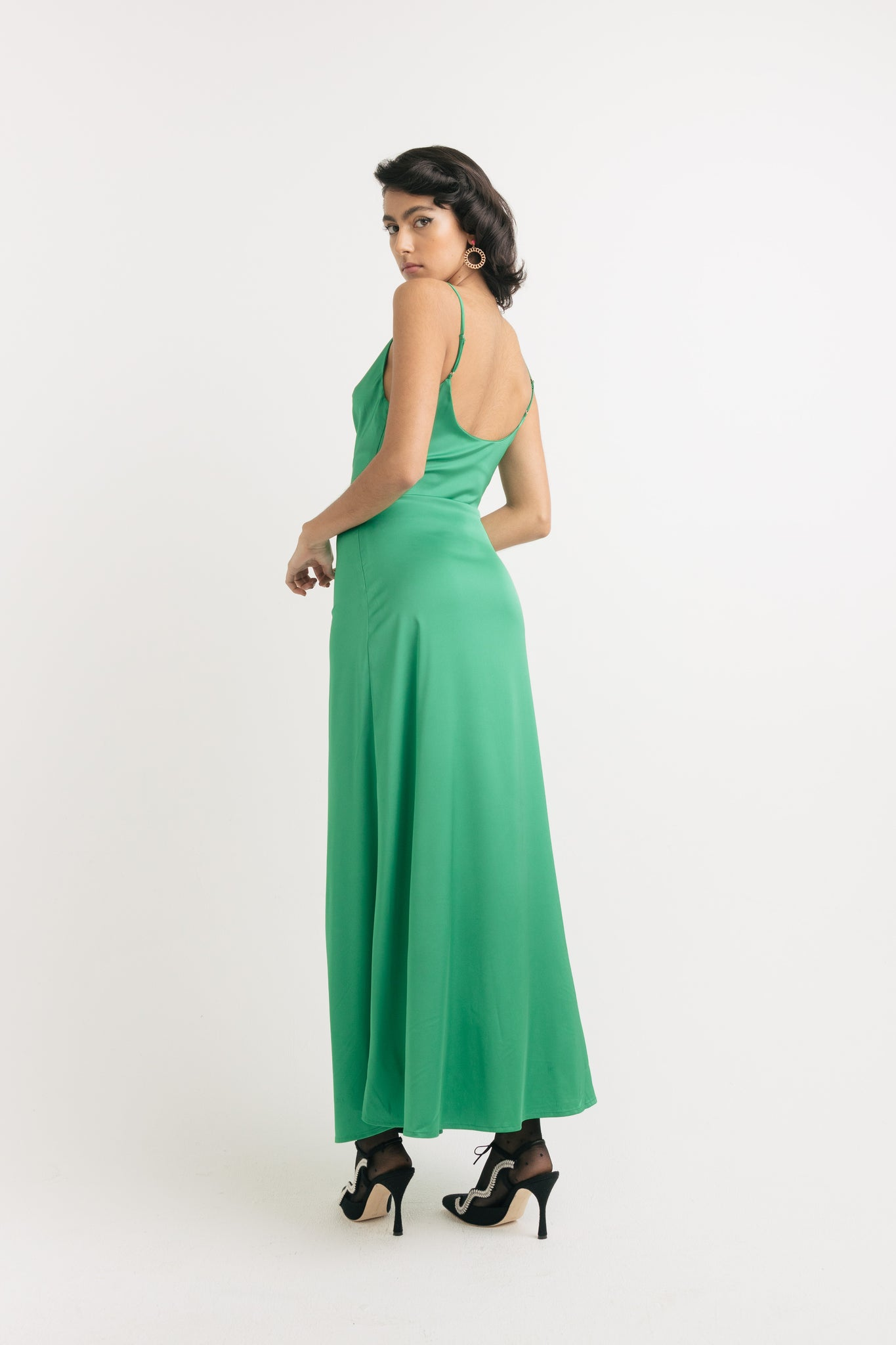 Malachite maxi dress