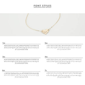 Personalized Dainty Heart Necklace