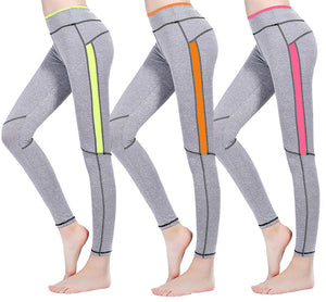 Colorful Stipe Gray Leggings
